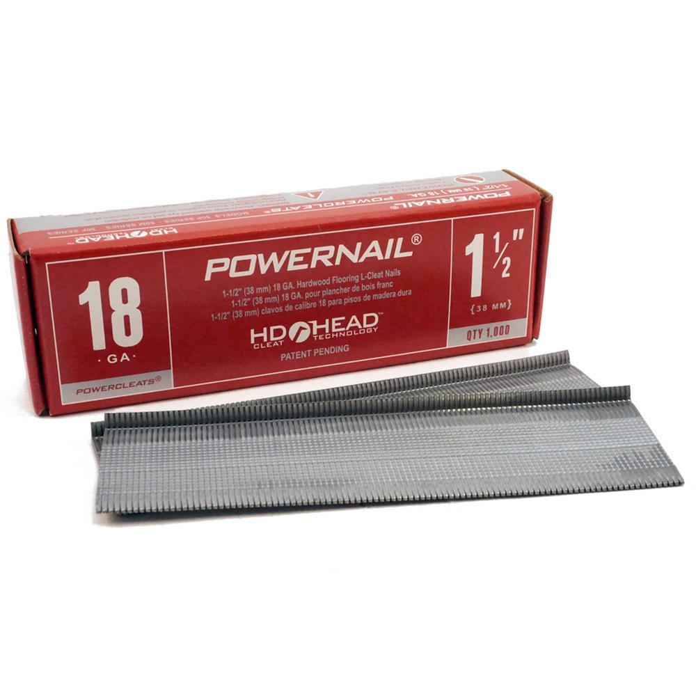 1-1/2 in. x 18-Gauge Powercleats Hardwood Flooring Nails (1000-Pack)