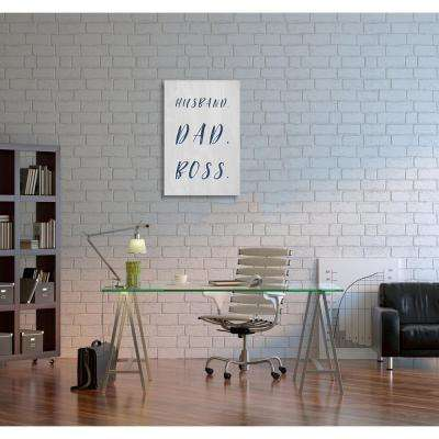 36 in. x 24 in. 'Husband Dad Boss' by Oliver Gal Printed Framed Canvas Wall Art
