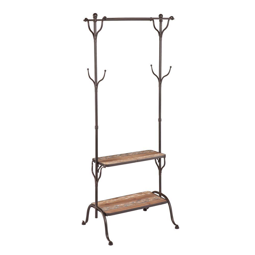 distressed fir coat rack. metal  coat rack  entryway furniture  furniture  the home depot