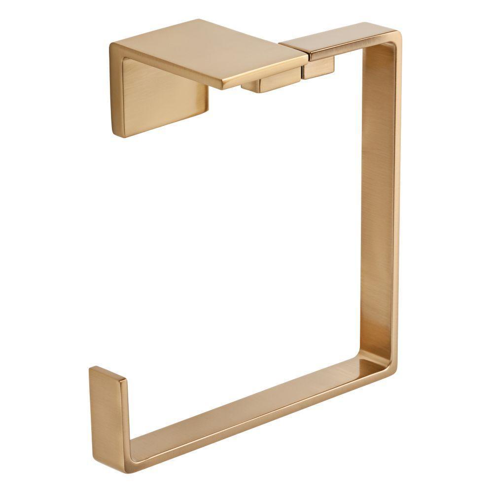 Delta Vero Open Towel Ring in Champagne Bronze