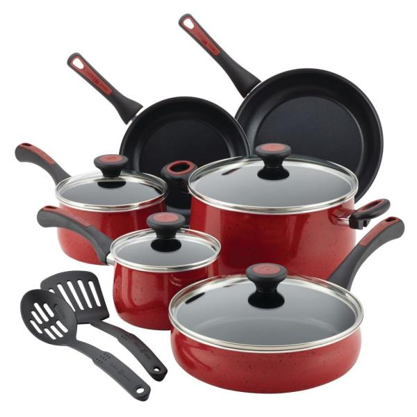 Cool Paula Deen Riverbend 12 Piece Red Speckle Cookware Set With Download Free Architecture Designs Parabritishbridgeorg