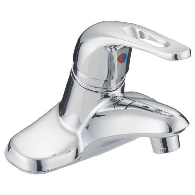 Prestige Collection 4 in. Centerset 1-Handle Washerless Bathroom Faucet in Chrome
