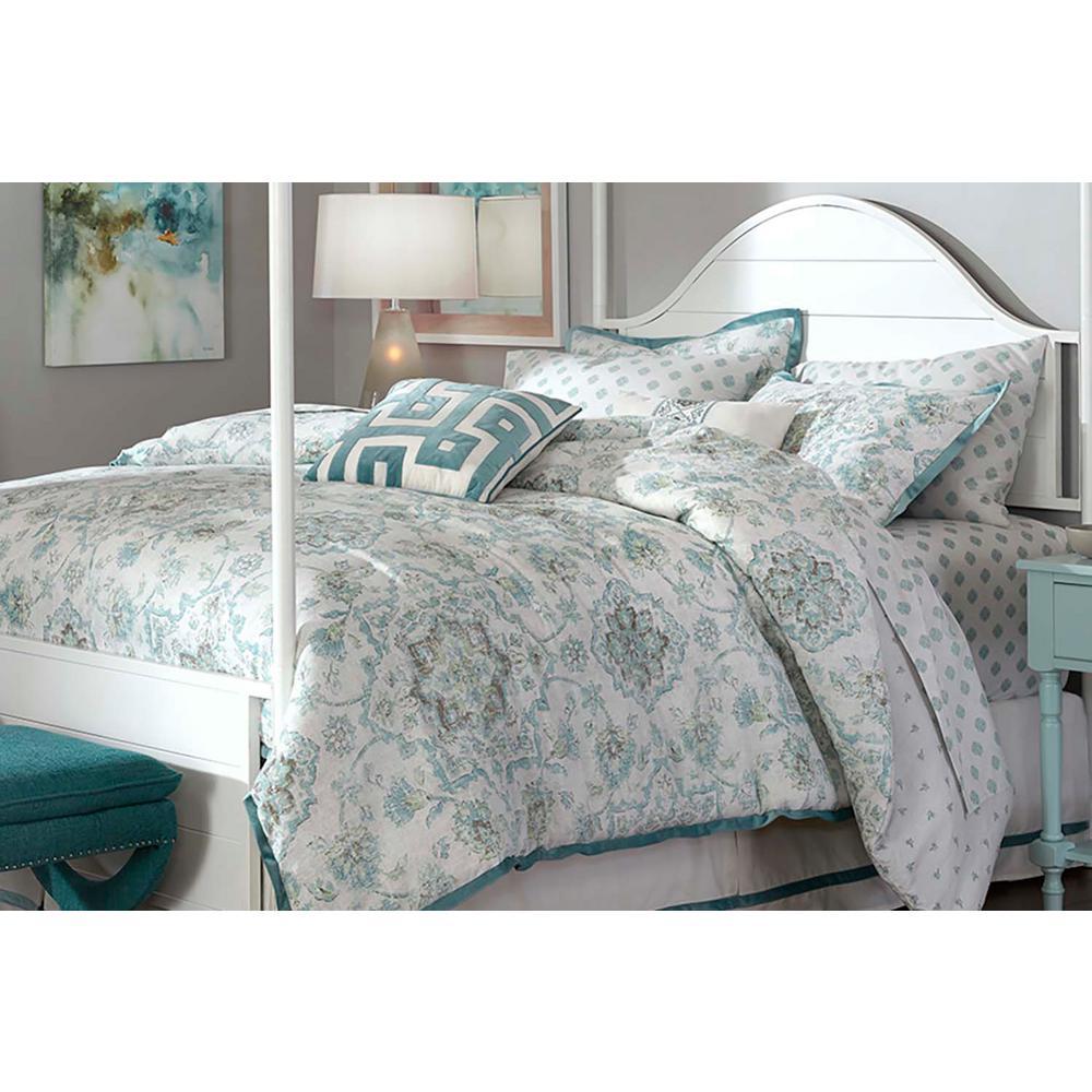HomeDecoratorsCollection Home Decorators Collection Calford Floral Medallion 10-Piece Queen Bedding Set, Aloe