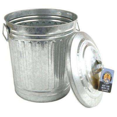Galvanized Charcoal or Ash Can with Lid