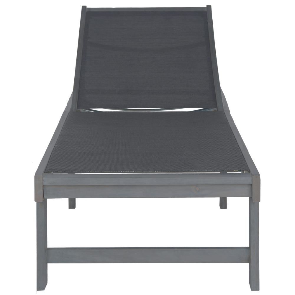 Safavieh Manteca Ash Grey Outdoor Patio Lounge Chair
