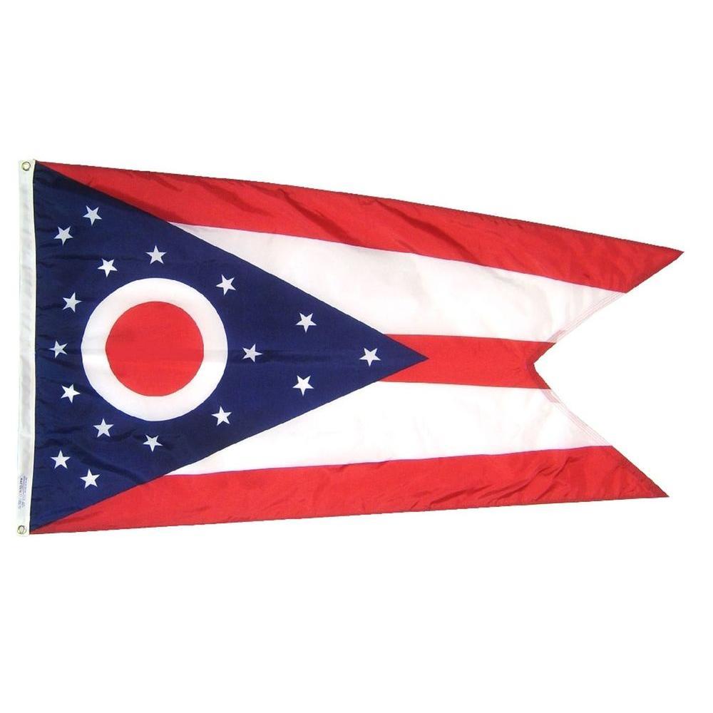 2 ft. x 3 ft. Nylon Ohio State Flag