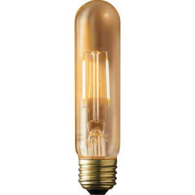 40W Equivalent Warm White T9 Amber Lens Vintage Tubular Dimmable LED Light Bulb (2-Pack)