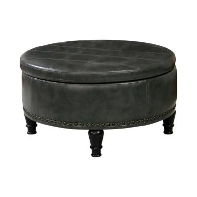 Pleasing Faux Leather Nailheads Ottomans Living Room Furniture Caraccident5 Cool Chair Designs And Ideas Caraccident5Info