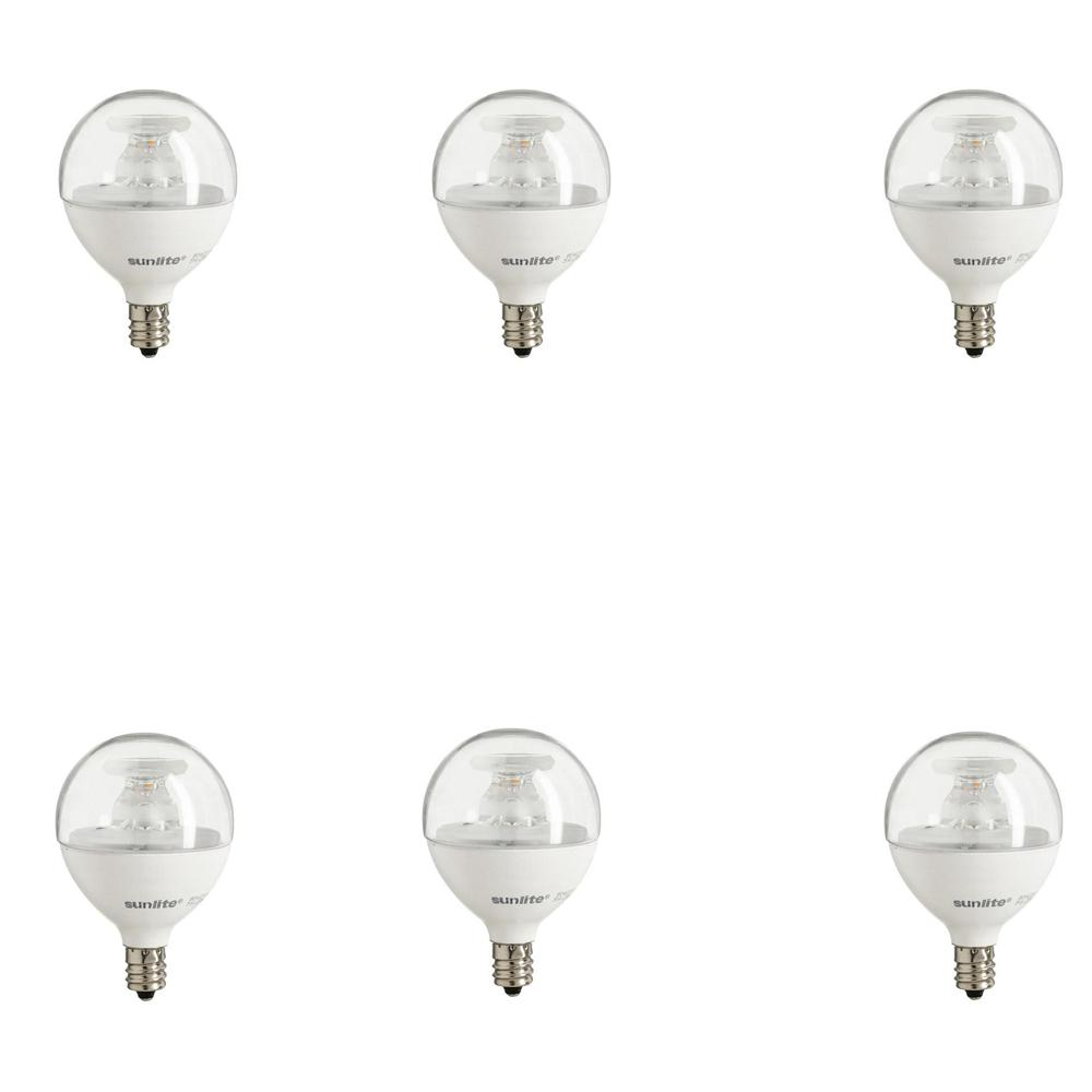 Bulbrite 40w Equivalent Warm White Light G16 Dimmable Led: Sunlite 60-Watt Equivalent Clear Warm White G16.5 Dimmable