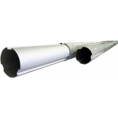 8 ft./2.7 m to 24 ft./8.1 m 3-Piece Aluminum Telescoping Tube for Pool Solar Blanket Reel Systems