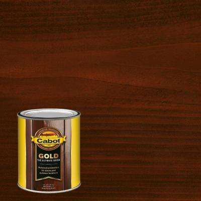 1 qt. Moonlit Mahogany Gold Oil Exterior Deck Varnish
