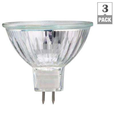 50-Watt Halogen MR16 Dimmable Flood Light Bulb (3-Pack)