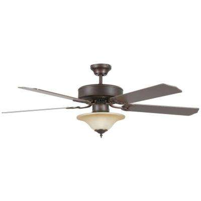 Nevaeh 52 in. Oil Rubbed Bronze Ceiling Fan with Light Kit and 5 Blades