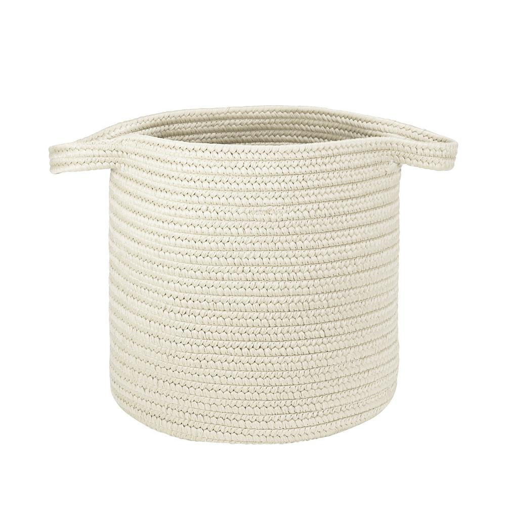 Colonial Mills 16 in. x 16 in. x 20 in. Snow Addison Braided Laundry Basket