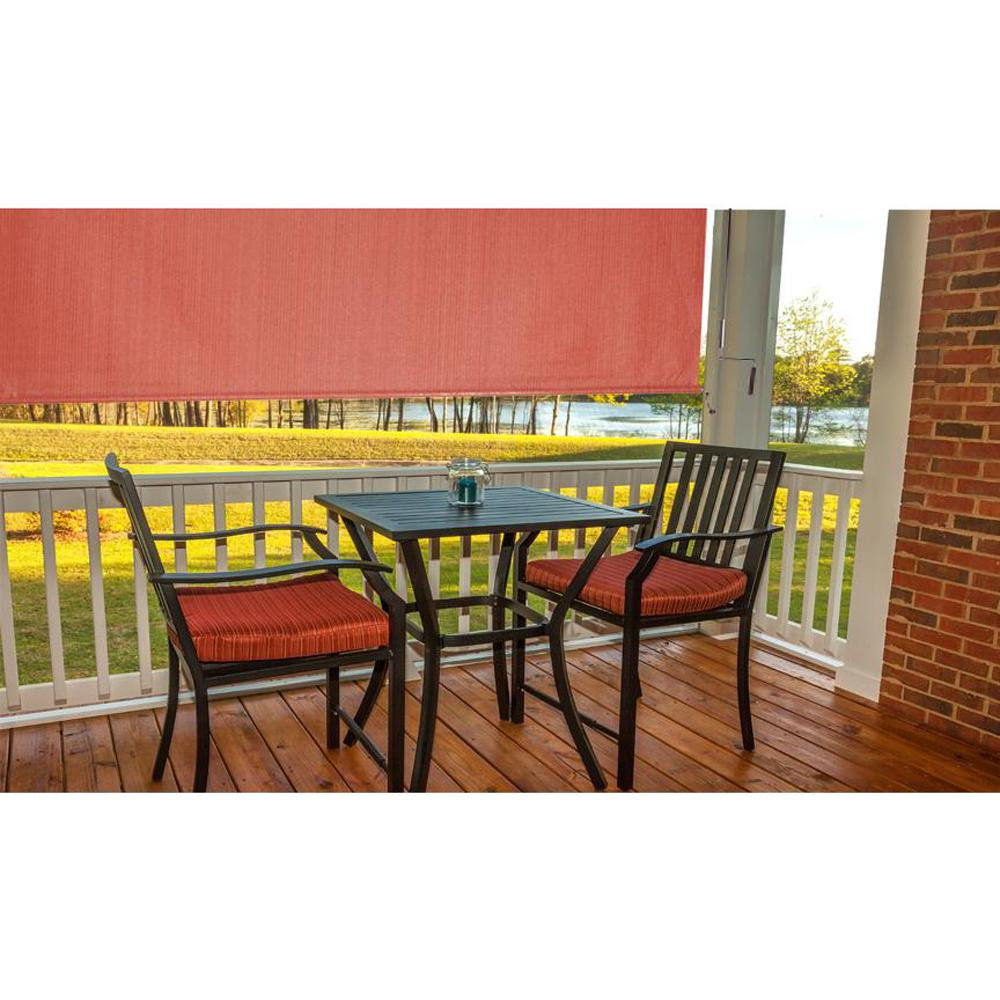 Beau This Review Is From:80% UV Block Cordless HDPE Terracotta Exterior Roller  Shade   96 In. W X 72 In. L