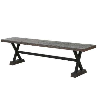 Bennett 70 in. Brown Concrete Outdoor Bench