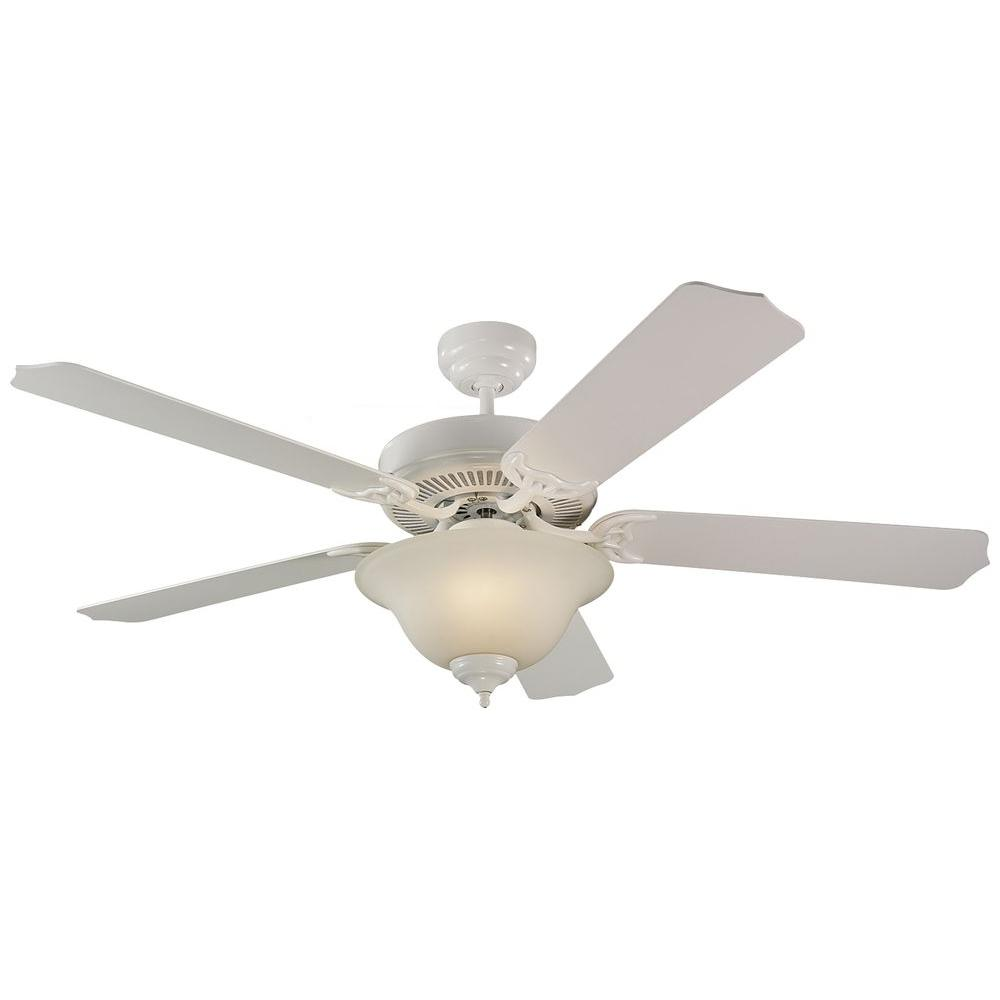 Monte Carlo Homeowner Max Plus 52 in. White Ceiling Fan