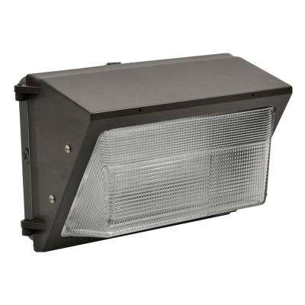 40-Watt Dark Bronze Outdoor Integrated LED Dimmable 120-277 Volt Medium Wall Pack Light Daylight 5000K 10137