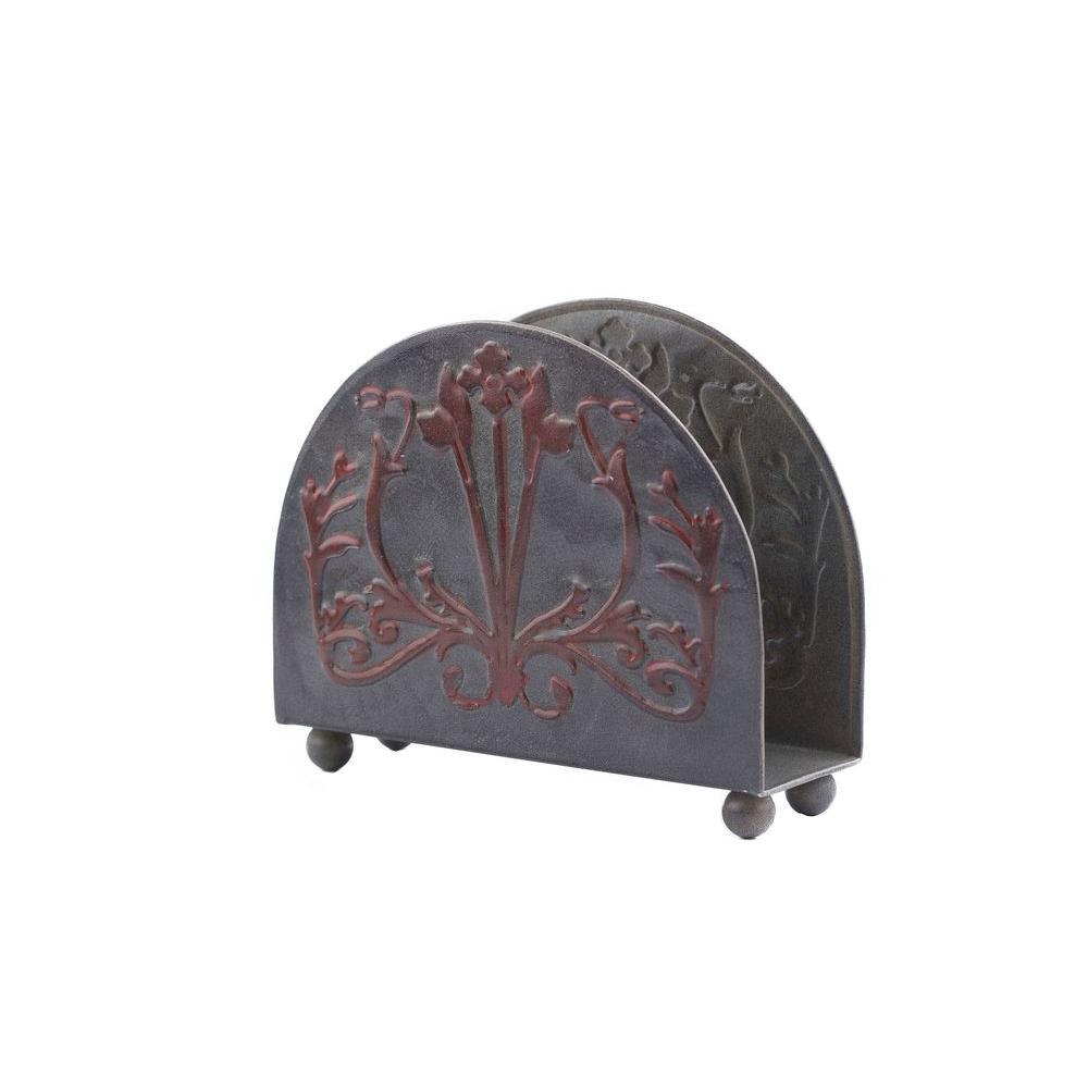 Old Dutch 6.5 in. x 2 in. x 5 in. Art Nouveau Napkin Holder
