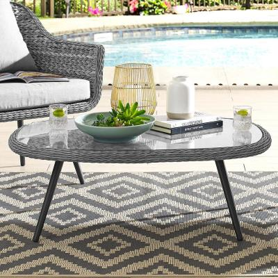 Endeavor Wicker Outdoor Coffee Table in Gray