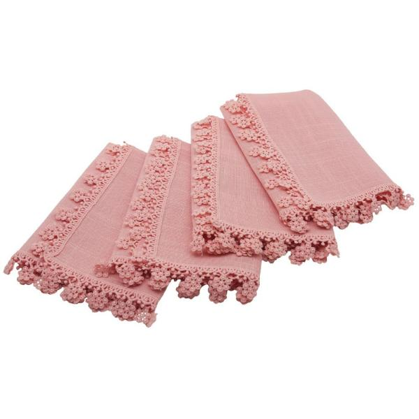 Manor Luxe Charm Lace 20 in. x 20 in. Rose Quartz