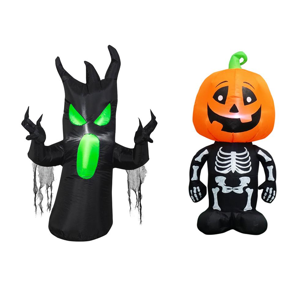 3.5 ft. Pre-lit Inflatable Combo Set Scary Tree/Pumpkin Boy Airblown