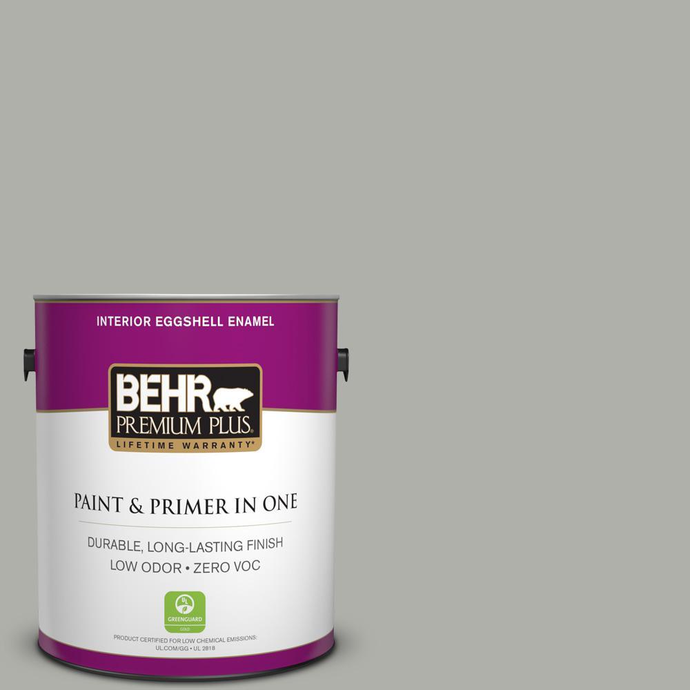 1-gal. #BNC-06 Urban Putty Eggshell Enamel Interior Paint