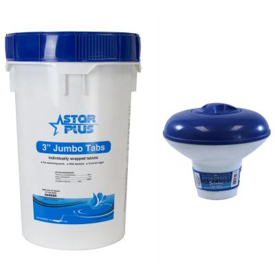 Pool Solutions 50 Lbs 3 In Pool Spa Stabilized Chlorine Plus Floating Tablet Dispenser Bucket 12000295 50lb 8720 The Home Depot