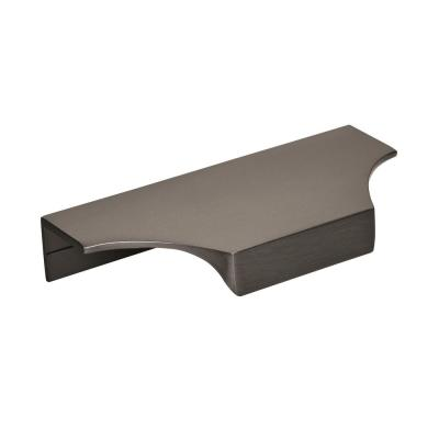 Extent 4-3/16 in. (106 mm) Center-to-Center Black Chrome Cabinet Edge Pull