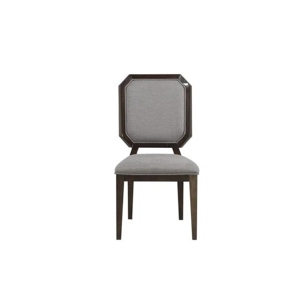 Selma Gray Fabric and Tobacco Side Chair (Set of 2)