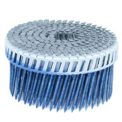 2.5 in. x 0.092 in. 15-Degree Ring Hot Dip Plastic Sheet Coil Siding Nail 3,200 per Box