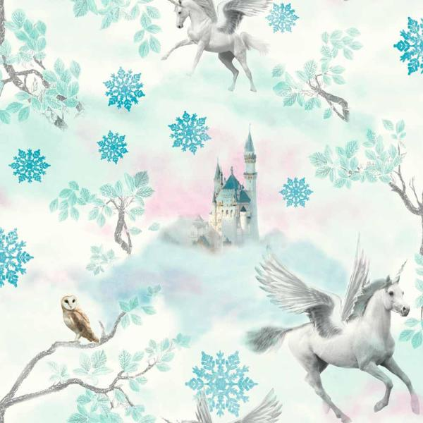 Fairytale Ice Blue Paper Strippable Wallpaper (Covers 57.26 sq. ft.)