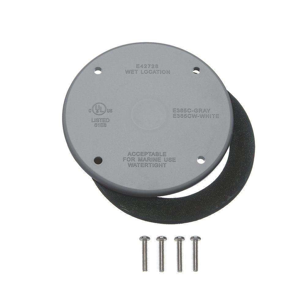 4 in. Round Blank Electrical Cover (Case of 10)