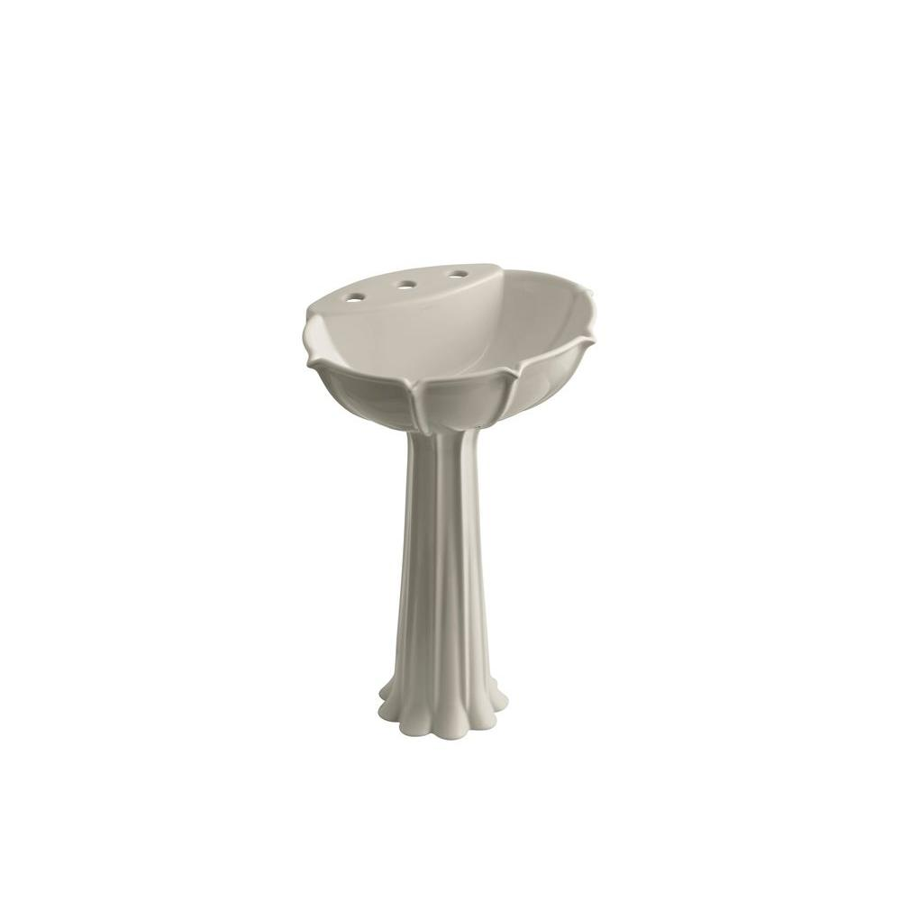 KOHLER Anatole Pedestal Combo Bathroom Sink in Sandbar-DISCONTINUED
