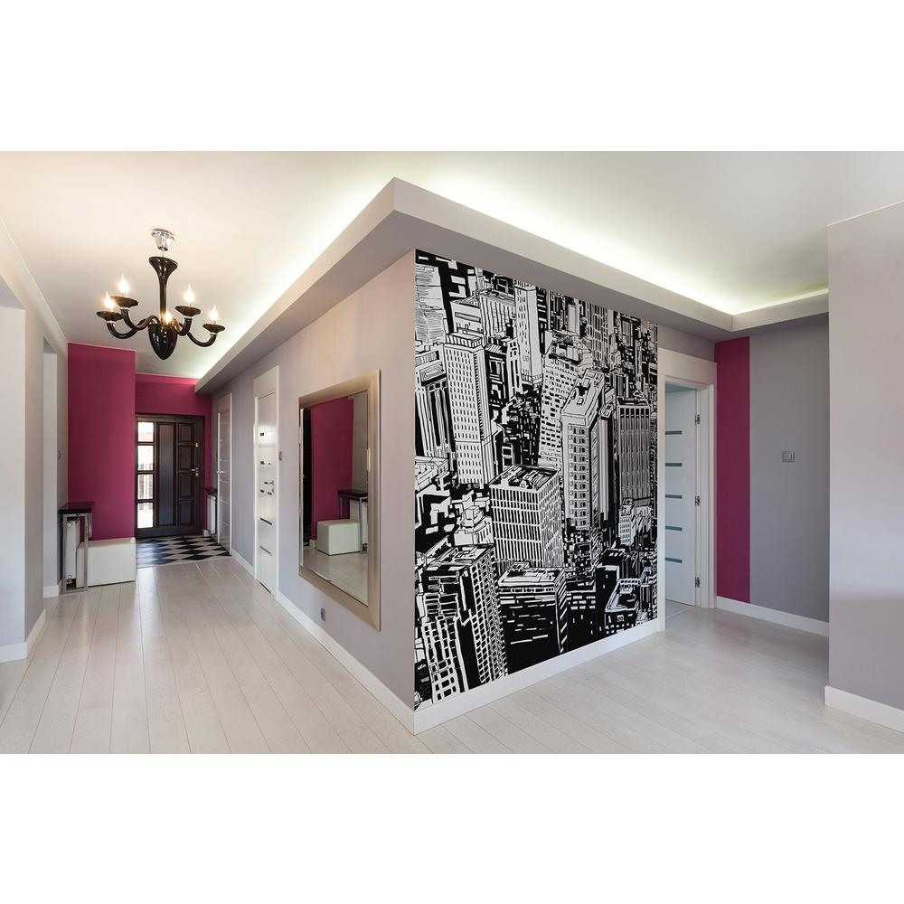 Brewster 118 in x 98 in urban jungle wall mural wals0010 for Brewster wall mural