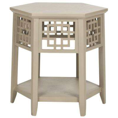 Zelda Pearl Taupe End Table