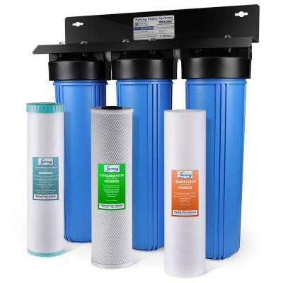 LittleWell 3-Stage Iron, Manganese Reduction 100,000 Gal. Whole House Water Filter with Sediment and Fine Carbon Block