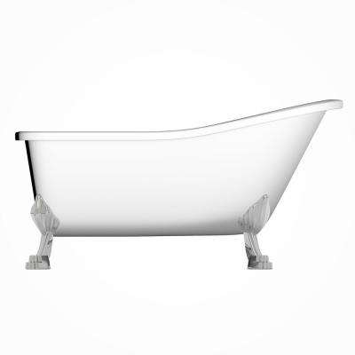 London 69 in. Acrylic Clawfoot Bathtub in White