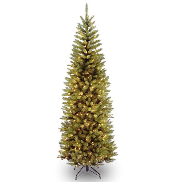 6 ft. Kingswood Fir Pencil Hinged Tree wth 200 Clear Lights