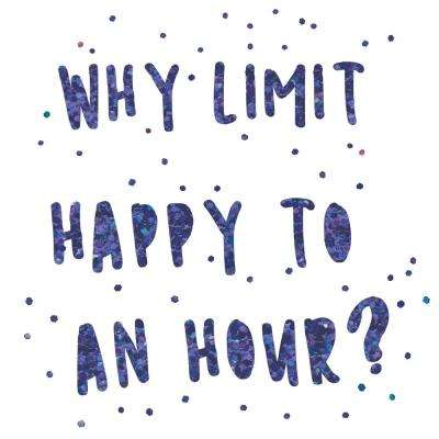 Don't Limit Happy Hour Purple Wall Quote Decal