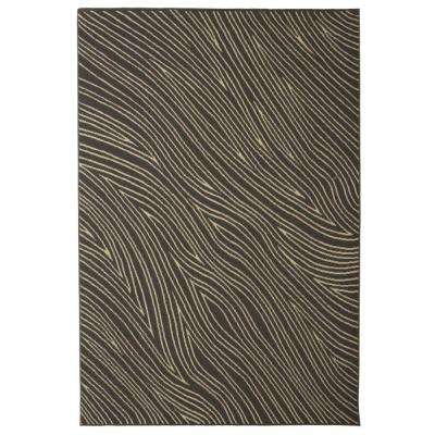 Broadway Waves Grey 5 ft. 3 in. x 7 ft. 6 in. Area Rug
