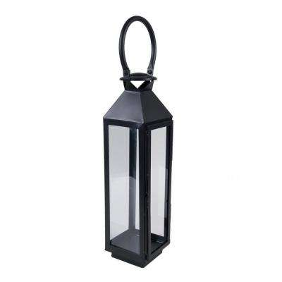 5.5 in. x 4 in. Black Metal Lantern