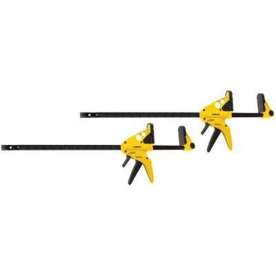 Professional Quick-Release 36 in. 1-Hand Bar Clamp and 44 in. Spreader (2-Pack)