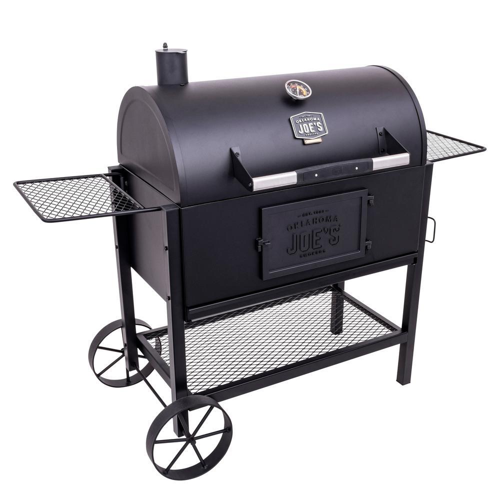 OKLAHOMA JOE'S - Judge Charcoal Smoker Grill in Black
