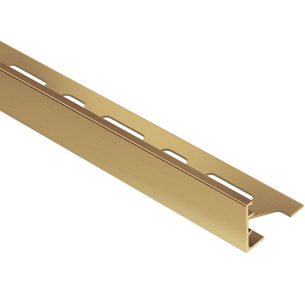 Schluter Schiene Solid Brass 11/16 in. x 8 ft. 2-1/2 in. Metal L-Angle Tile Edging Trim