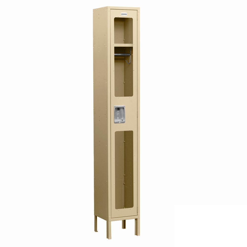 Salsbury Industries S-61000 Series 12 in. W x 78 in. H x 18 in. D Single Tier See-Through Metal Locker Unassembled in Tan
