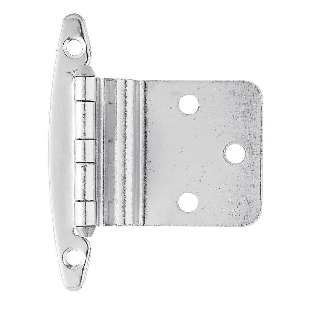 Liberty 3/8 in. Chrome Inset Hinge without Spring (1-Pair)-H00930C ...