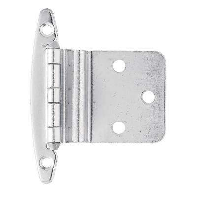 Chrome 3/8 in. Inset Cabinet Hinge without Spring (1-Pair)