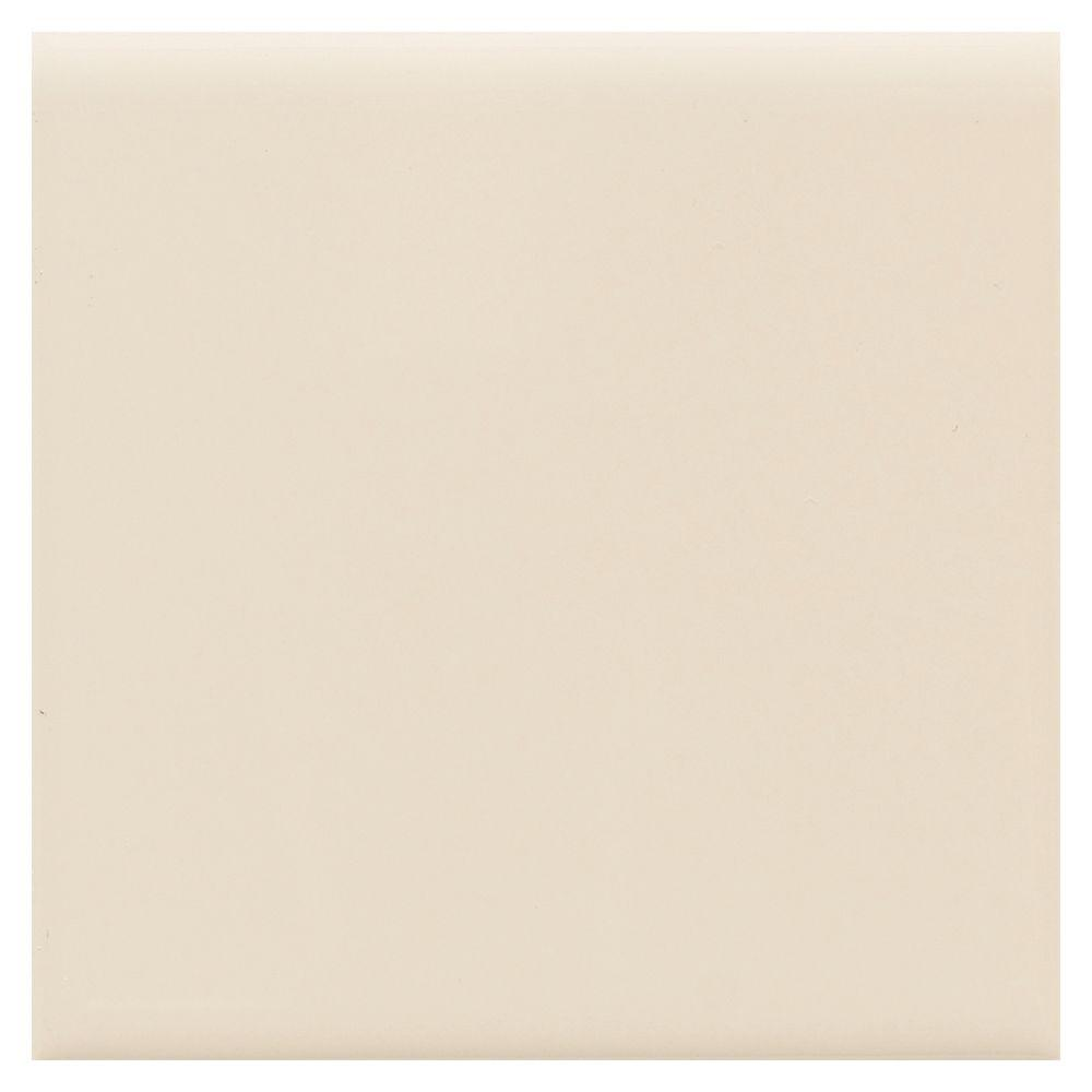 Semi-Gloss Almond 4-1/4 in. x 4-1/4 in. Ceramic Surface Bullnose Wall