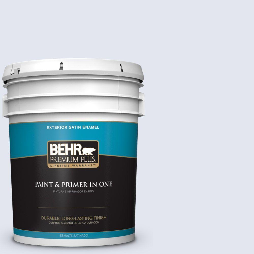 BEHR Premium Plus 5-gal. #620A-1 Graceful Satin Enamel Exterior Paint